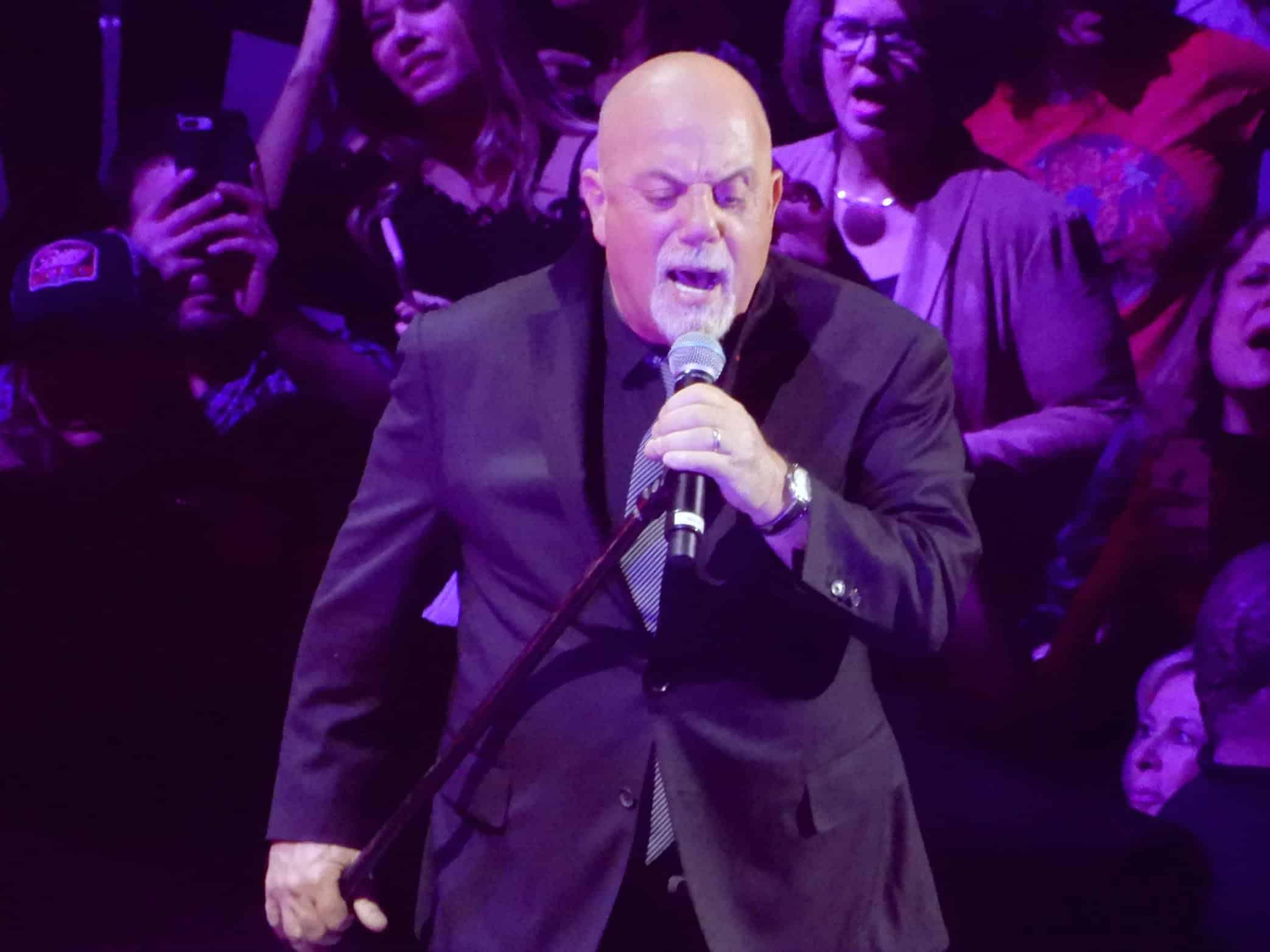 Billy Joel performing at the Nassau Veterans Memorial Coliseum