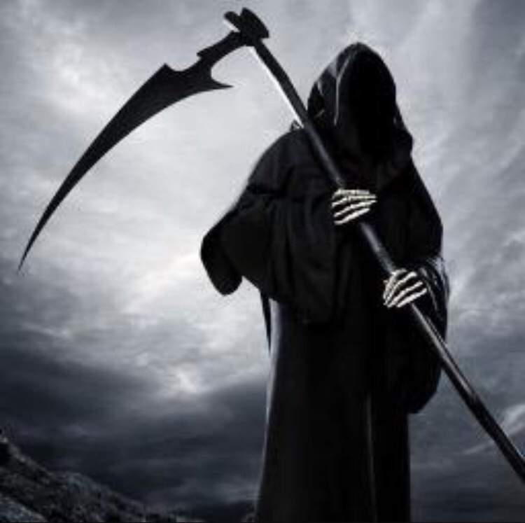 Grim reaper of death and dying